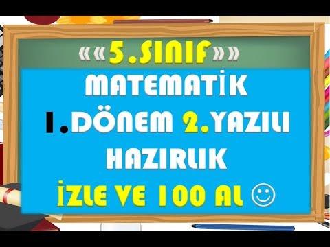5.Sınıf Matematik 1.Dönem 2.Yazılı Hazırlık 1-Yardımcı Öğretmen