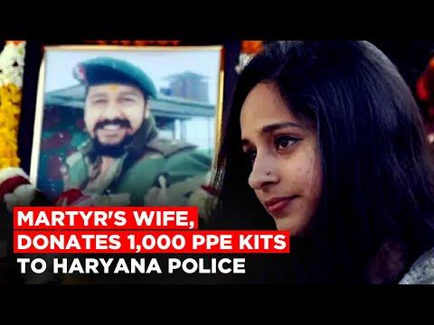 Pulwama Martyr's Wife, Nitika Kaul Dhoundiyal Donates 1,000 PPE Kits To Haryana Police