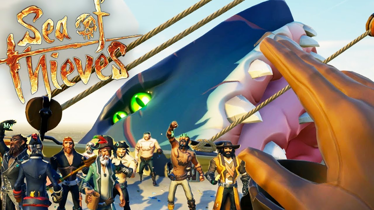 Sea of Thieves - 2 GALLEONS DEFEAT THE MEGALODON! How To Find Megalodon  Hungering Deep - Gameplay