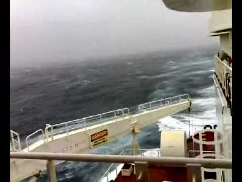 Rough weather at Magellan Straight
