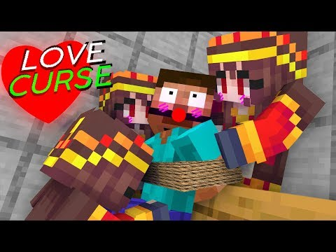 Monster School : LOVE CURSE CHALLENGE - Minecraft Animation