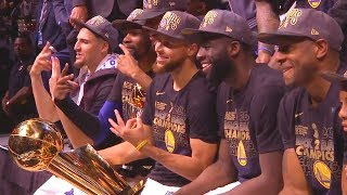 2018 NBA Championship Trophy Ceremony Celebration From Golden State Warriors!