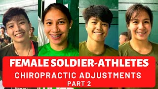 COMPILATION OF 4 FEMALE SOLDIER-ATHLETES | *INCREDIBLE CHIROPRACTIC ADJUSTMENTS* BY BGC CHIROPRACTOR