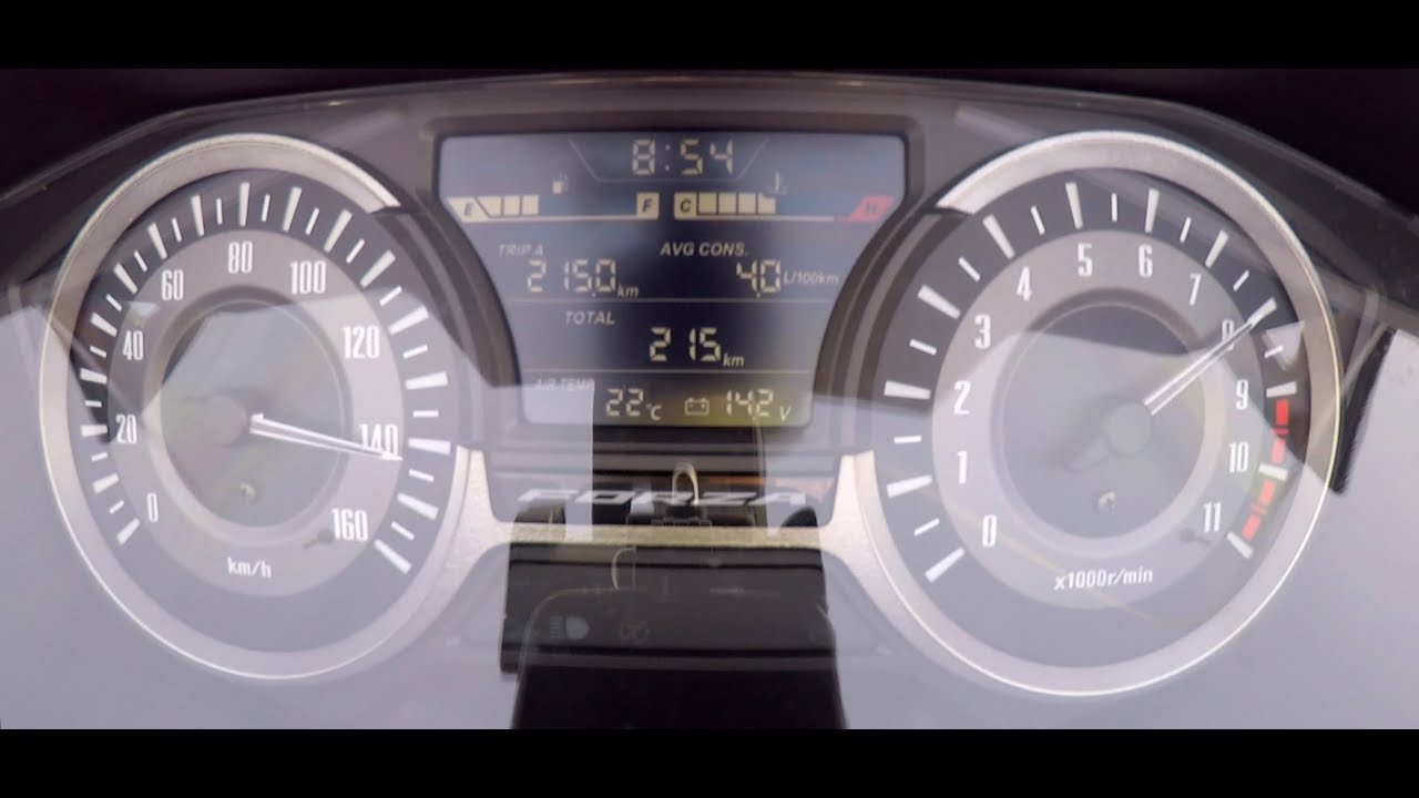 Honda Forza 300 O 145 Kmh Top Speed Best Time Cockpit Real Time