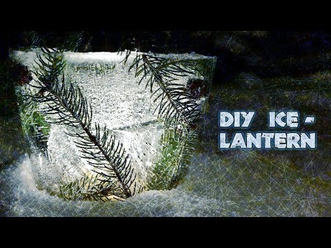 DIY SCANDINAVIAN ICE LANTERN | Easy Frozen Candle Holder Tutorial