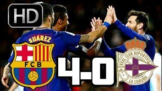 Barcelona vs Deportivo la Corua 2017 RESUMEN Y GOLES HD LIGA 17-12-2017