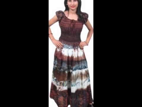 Women s Summer Printed Nighty   Dresses By Indiatrendzs - YouTube 3c152ef63