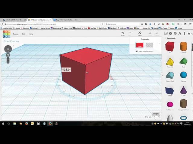 Tinkercad - Tutoriel français modélisation 3D débutant impression 3D