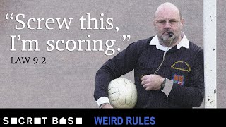 A ref intentionally scored a goal and it counted | Weird Rules