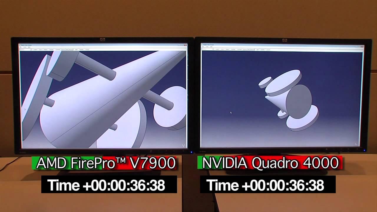 AMD V7900 and NVIDIA Quadro 4000 Head-to-Head in CATIA (CATbench benchmark)