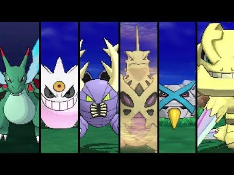 Pokemon Ultra Sun And Ultra Moon - All Shiny Mega Evolutions