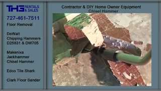 Floor Removal, Tile Shark, Jackhammer, Rental Equipment, THG Rental and Sales, Clearwater