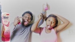 EXTREME HAIR REMOVAL LOTION PRANK ON LITTLE SISTER!!! (SHE CRIED!!) | IamAKA