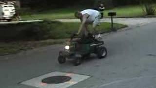 Wheelies on Murray lawn mower