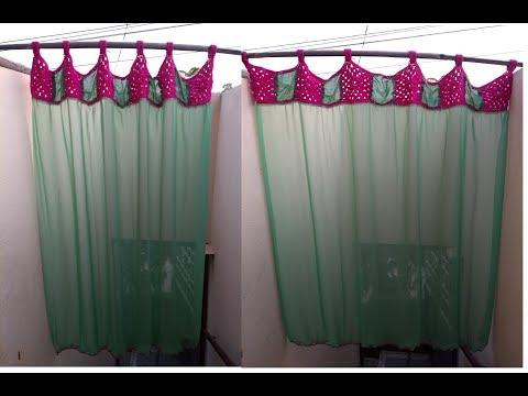Saree screen using old waste saree | into beautiful crochet screen | பழைய புடவை டு புது திரை