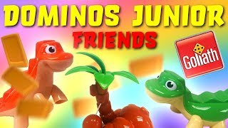 Incredibles 2 Unbox Dominos Junior Friends Game! Featuring Dash,and Mr Incredible, and Dinosaurs!