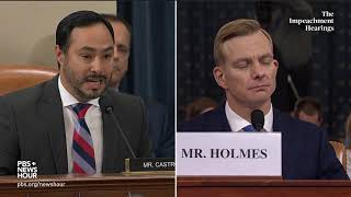 WATCH: Rep. Joaquin Castro's full questioning of Hill and Holmes | Trump impeachment hearings
