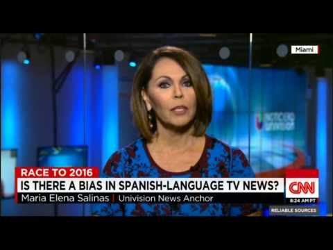 CNN Reliable Sources: Maria Elena Salinas on how Univision covers immigration