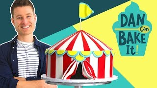 Dan Bakes a Circus Cake with DIAGONAL Layers 🎪 Challenge #12