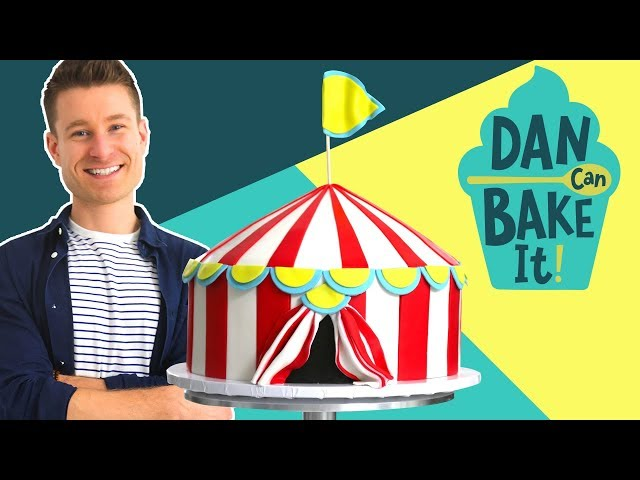 Dan Bakes a Circus Cake with DIAGONAL Layers 🎪 Challenge #12