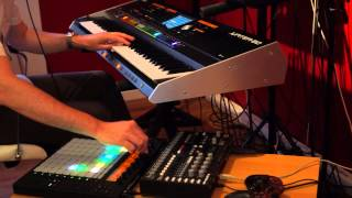 roland jupiter 80 and ableton push combi