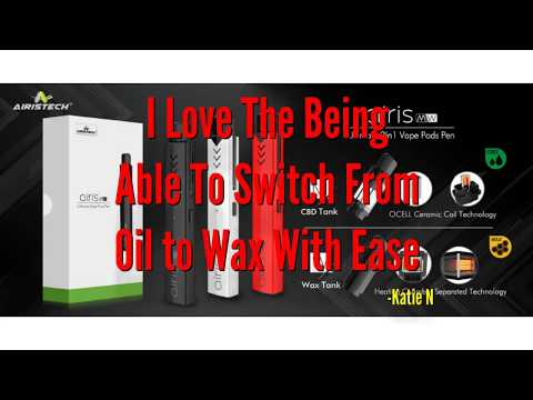 CBD Oil Wax Concentrate Vape Pen Review 2018. Airistech  MW 2-in-1 Dual Pod Pen Vaporizer Oil Wax