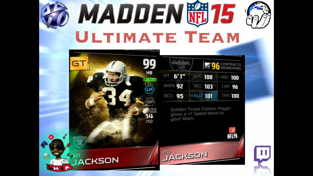 Golden Ticket Bo Jackson 100 Retweets Stream Madden Ultimate