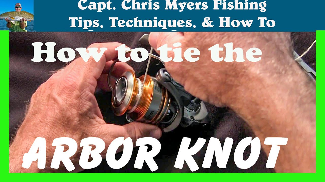 How to spool a fishing reel arbor knot fishing knots for Tying fishing line to reel