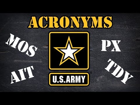 Army Acronyms