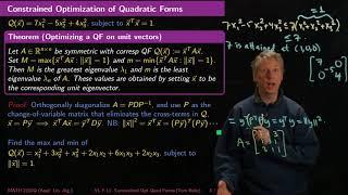 Constrained Optimization of Quadratic Forms - Linear Algebra - F11