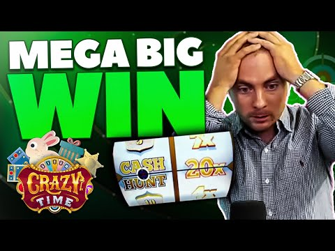 MEGA BIG WIN on CRAZY TIME by KONGEBONUS