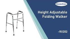 KosmoCare Premium Imported Light weight Aluminum Height Adjustable Reciprocal Folding Walker 2