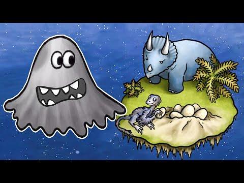 ЛИЗУН ГЛАЗАСТИК съел мир динозавров. ИГРА Tasty Planet 2 #1 на Игрули TV