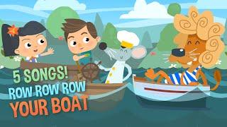 Row Row Row Your Boat | Baby Songs | Kids Songs | Nursery Rhymes | 5 Songs!