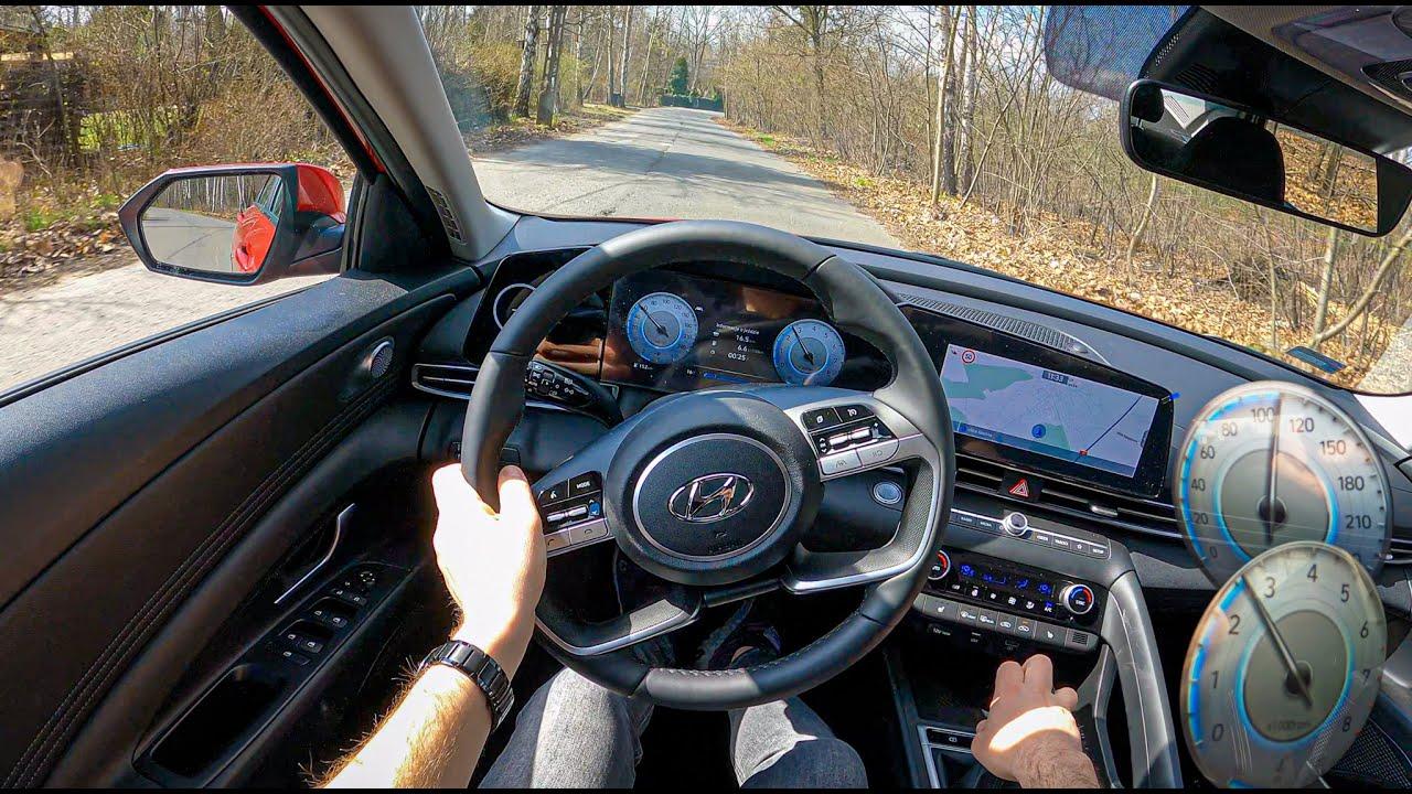 NEW Hyundai Elantra 2021(1.6 MPI 123 HP)| 0-100 | POV Test Drive #738 Joe Black