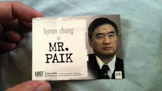 BYRON CHUNG (Actor-Mr.Paik LOST)- Autograph Collection Showing FREEZE