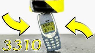 EXPERIMENT HYDRAULIC PRESS 100 TON VS NOKIA 3310