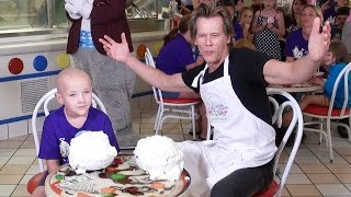 Kevin Bacon Squares Off in Ice Cream Challenge at Give Kids the World - Six Degrees