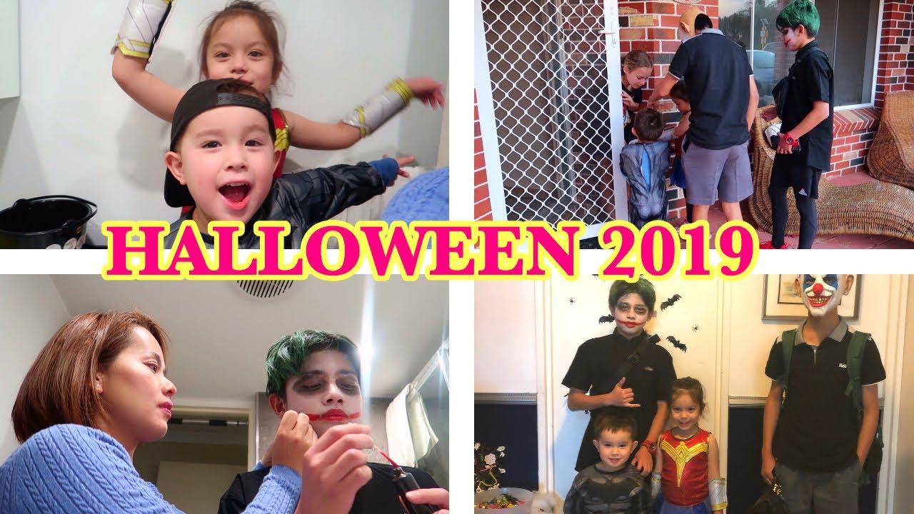 Vlog 297|| ĐỘI MƯA ĐI CHƠI LỄ HALLOWEEN ( HALLOWEEN 2019 KIDS TRICK OR TREAT CANDY HAUL)