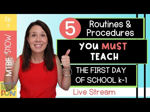 5 First Day Of School Routines And Procedures You Must Start In Kindergarten And First Grade