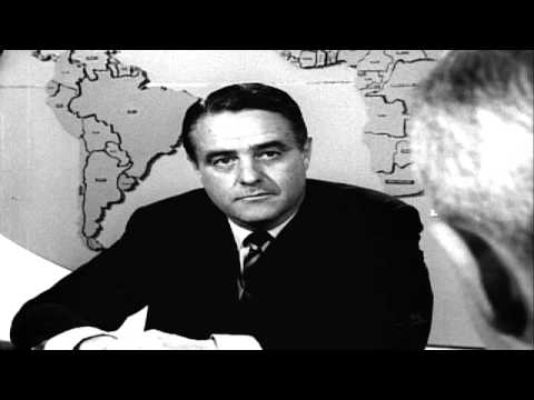 Sargent Shriver  with Frank Reynolds of ABC   1965