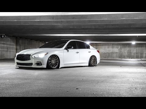 Infiniti Of Charlotte >> BAGGED INFINITI Q50 ON VOSSENS, D2 AIR SUSPENSION - YouTube