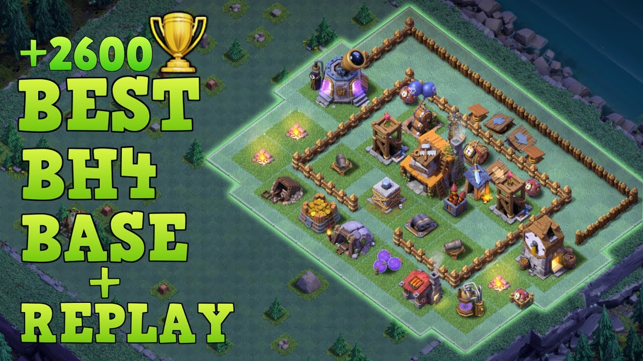 Best builder hall 4 base tested w replay bh4 anti 2 Best builder house 4 base