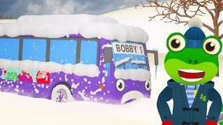 Bobby The Bus Is STUCK In The Snow | Gecko's Garage | Bus Videos For Children | Learning For Kids