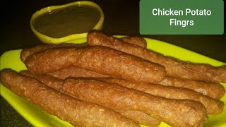 Chicken potato fingers | Crispy Chicken potato fingers | How to make Chicken potato fingers |