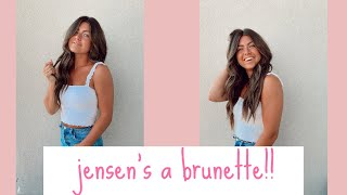 JENSEN DYED HER HAIR!! *THE BEST REACTIONS!*