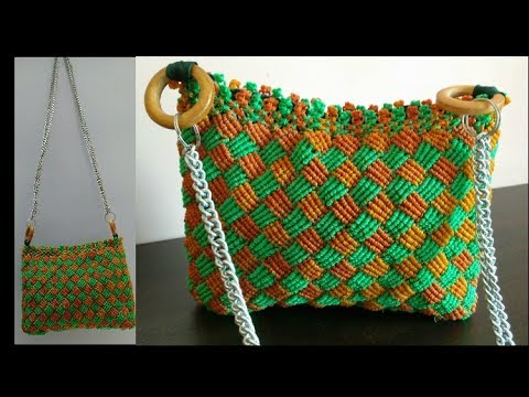 Do It On Your Own How To Make Macrame Bag With New Design Pattern Learn In Hindi Part 2