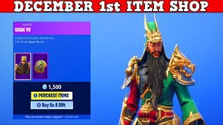 Fortnite Item Shop (December 1st) | *NEW* GUAN YU SKIN!