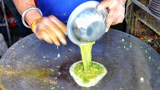 Road Side Randomly Prepared 3 Layer Egg Dish | Egg Street Food | Indian Street Food