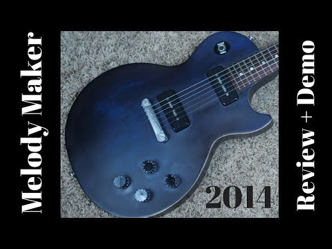 2014 Gibson Les Paul Melody Maker Manhattan Midnight P90 S Review + Demo